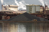 05-09-2017 - Sault Ste. Marie, Ontario Canada - A pile of coal at the Algoma steel mill on the shore of the St. Marys River. © Jim West