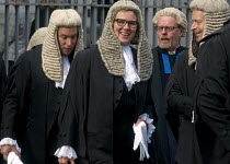 02-10-2017 - Lord Chancellors breakfast. Traditional procession of Judges to the Houses of Parliament to mark official start of year in the British legal system, London. Queens Counsels in full ceremonial dress fi... © Stefano Cagnoni