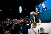 04-10-2017 - Theresa May speaking Conservative Party Conference, Manchester 2017 © Jess Hurd