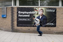 10-10-2017 - Students, Coventry University. Employment Focused advertisment © John Harris