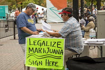 05-10-2017 - Michigan USA, MI Legalize petition for the legalization of marijuana for recreational use © Jim West