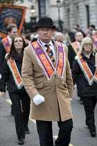 11-11-2017 - The Orange Order marching to The Cenotaph, Remembrance Day, Whitehall, London © Jess Hurd