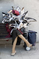 07-09-2015 - Dismaland a parody of Disneyland theme park by Banksy, Weston Super Mare. Seagull attack at the Bemusement Park. © Paul Box