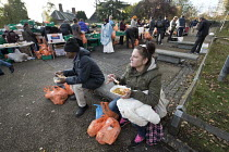05-11-2017 - Homeless and hungry queuing for food, Coventry. The soup kitchen and food bank is provided by The Midland Langar Seva Society © John Harris