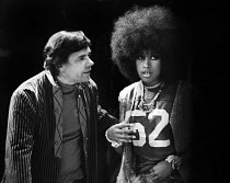 22-09-1968 - Tom O'Horgan, actress Marsha Hunt, musical HAIR, 1968, Shaftesbury Theatre London. The opening night was delayed until the abolition of theatre censorship in England under the Theatres Act 1968 as the... © Barbara Hall