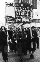 08-12-1971 - Students from the London Film School join protest against state plans to restrict NUS autonomy, London 1971 © Chris Davies