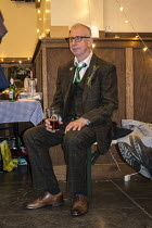 29-04-2017 - Alison and Fred Buxton wedding. Happy farther in law enjoying a pint after completing his speech © John Harris