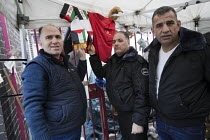 19-01-2018 - Palestinian firefighters visiting Grenfell in solidarity. They have been training in Scotland with the support of the FBU and Scottish Government. Kensington, London © Jess Hurd