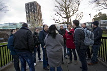 19-01-2018 - Palestinian firefighters visiting Grenfell in a solidarity with FBU official Lucy Masoud. The firefighters have been training in Scotland with the support of the FBU and Scottish Government. Kensingto... © Jess Hurd