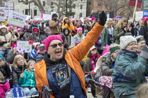 21-01-2018 - Lansing, Michigan USA Womens march protest against sexual harassment, violence against women and the presidency of Donald Trump © Jim West
