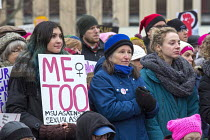 21-01-2018 - Lansing, Michigan USA Womens march protest against sexual harassment, violence against women and the presidency of Donald Trump. MeToo © Jim West
