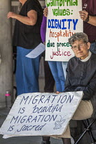 03-02-2018 - Richmond Detention Center, California USA People of faith vigil against imprisonment of immigrants. © David Bacon
