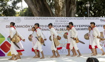 20-02-2018 - Oaxaca, Mexico Mixtec group performing a traditional harvest dance. Indigenous community celebrating The International Day of The Mother Tongue. The day is dedicated to the protection of native langua... © Jim West