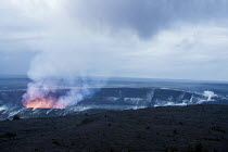 23-02-2018 - Kilauea volcano, Big Island, Hawaii Volcanoes National Park. A major eruption is predicted because of the rising lava in the caldera of the active volcano © David Bacon