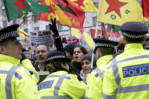 17-03-2018 - Afrin protesters, March against Racism, UN Anti Racism Day, Stand Up To Racism, London © Jess Hurd