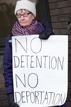 19-03-2018 - Supporters of the Stansted 15 protest, Chelmsford Crown Court on day one of the 6 week trial on terrorism charges after chaining themselves to a deportation flight to Nigeria and Ghana at Stansted Air... © Philip Wolmuth