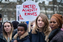 22-03-2018 - Camnden Council Leader Georgia Gould. Camden Against Violence silent march by community campaigners and NEU members against knife crime following a series of fatal stabbings in the area © Philip Wolmuth