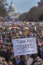 24-03-2018 - Washington DC, USA March for Our Lives opposing gun violence and mass shootings in American schools. The march was organized by students from Marjory Stoneman Douglas High School, Parkland, Florida, w... © Jim West
