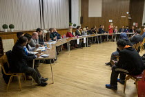 09-04-2018 - Hustings with Conservative, Labour, Liberal Democrats and Green local election candidates for 2 council wards, Camden, London © Philip Wolmuth