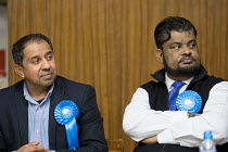 09-04-2018 - Hustings with Conservative, Labour, Liberal Democrats and Green local election candidates for two of the council wards, Camden, London. Shamin Ahmed (L) Mohammed Salim (R) © Philip Wolmuth