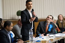 09-04-2018 - Axel Kaae Conservative, Hustings with Conservative, Labour, Liberal Democrats and Green local election candidates for 2 council wards Camden, London © Philip Wolmuth