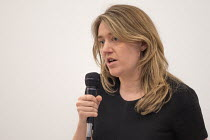 10-04-2018 - Georgia Gould, Camden Council leader speaking, Camden Labour Party manifesto launch, May local government elections, London © Philip Wolmuth