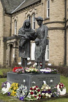 13-03-2018 - Memorial statue To those who lost their lives in supporting their Union in times of struggle, Barnsley NUM headquaters © John Harris