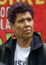 28-04-2018 - Workers Memorial Day commemoration Tower Hill London 2018. Moyra Samuels speaking, Justice for Grenfell Campaign. Annual event to protest against and commemorate lives lost and injuries sustained in t... © Stefano Cagnoni