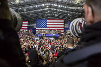 28-04-2018 - Washington Township, Michigan USA: Photographers photographing President Donald Trump campaign rally © Jim West