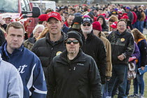 28-04-2018 - Washington Township, Michigan USA - 28 April 2018 - People wait in a long line for security clearance before a Donald Trump campaign rally in Macomb County, Michigan. Trump skipped the annual White Ho... © Jim West