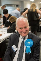 04-05-2018 - Conservative council leader Richard Cornelius. London Borough of Barnet local election count. © Philip Wolmuth