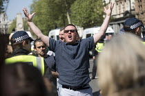 06-05-2018 - Far right jeering at anti fascists, Tommy Robinson and the Democratic Football Lads Alliance Day Of Freedom rally, Whitehall, London © Jess Hurd