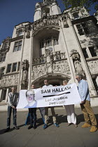 08-05-2018 - Justice for Sam Hallam appeal for compensation for miscarriage of justice at the Supreme Court, London. Sam Hallam served seven years for a murder he did not commit © Jess Hurd