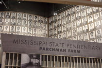 24-04-2018 - Jackson, Mississippi, USA: The Mississippi Civil Rights Museum. Identity photographs of Freedom Riders arrested in 1961 in Jackson for trying to racially integrate the interstate bus transport. The mu... © Jim West