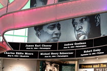 24-04-2018 - Jackson, Mississippi, USA: The Mississippi Civil Rights Museum. The names of civil rights martyrs encircle the rotunda. Included are James Chaney, Andrew Goodman, and Michael Schwerner, civil rights w... © Jim West
