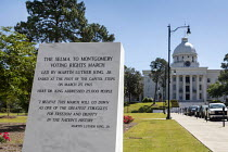 20-04-2018 - White Hall, Alabama, USA: Marking the 1965 Selma to Montgomery Voting Rights March, Alabama state capitol © Jim West