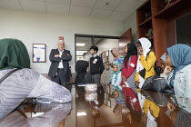 09-05-2018 - Lansing, Michigan, USA: Muslim high school students from Al-Ikhlas Training Academy Detroit visiting Republican State Senator Ken Horn and discussing issues they are concerned about. Annual Michigan M... © Jim West