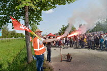23-04-2018 - Nouvelle Aquitaine, France. Strike by SNCF railway workers © Patrick Allard