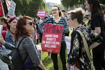 05-06-2018 - Protesting for abortion rights in Northern Ireland, Parliament Square, London © Jess Hurd
