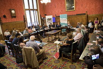 04-07-2018 - Palestinian journalists under attack: NUJ public meeting in Parliament, Michelle Stanistreet NUJ and representatives from the Palestinian Journalists Syndicate. Chaired by Liz Saville Roberts MP, Plai... © Jess Hurd