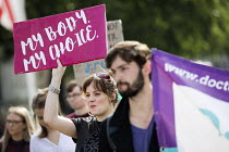 05-06-2018 - Protesting for abortion rights in Northern Ireland, Parliament Square, London. © Jess Hurd