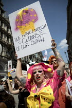 13-07-2018 - Drag Protest from Soho, Together Against Trump protest against the visit to the UK by US President Donald Trump, London © Jess Hurd