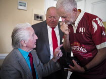 14-07-2018 - Dennis Skinner and Jeremy Corbyn, County Hotel, Durham Miners Gala, 2018 © Mark Pinder