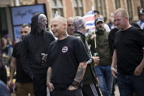 01-09-2018 - EDL national protest Worcester, against a potential mosque countered by an anti fascist March for Unity © Jess Hurd