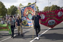 01-09-2018 - West Midlands FBU, Anti fascist March for Unity counter protest against EDL national protest, Worcester © Jess Hurd