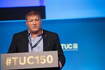 12-09-2018 - Ian Murray FBU speaking TUC conference 2018 Manchester © John Harris