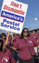 03-09-2018 - Detroit, Michigan USA Labor Day parade, Members of APWU protesting against privatization the US Postal Service © Jim West