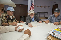 01-11-2017 - Houston, Texas, USA, Senior citizens playing dominoes, Wesley Community Center © Jim West