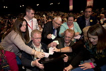 23-09-2018 - Delegates casting a card vote, Labour Party Conference, Liverpool, 2018 © Jess Hurd