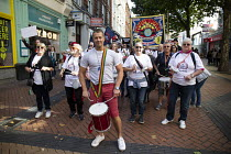 29-09-2018 - Adam Joyce FBU leading drummers. Protest against Austerity cuts ahead of the Conservative Party Conference, Birmingham © John Harris